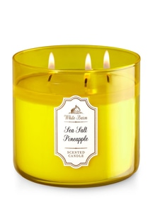 【Bath & Body Works】3-ウィック キャンドル_シーソルト パイナップルの香り