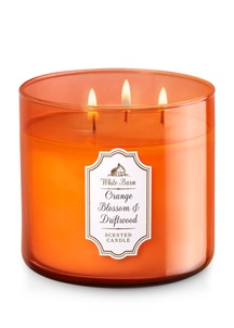 【Bath & Body Works】3-ウィック キャンドル_オレンジブロッサム&ドリフトウッドの香り