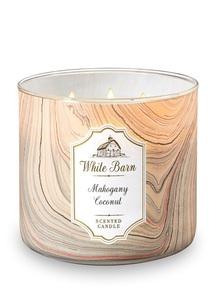 【Bath & Body Works】3-ウィック キャンドル_マホガニー ココナッツの香り