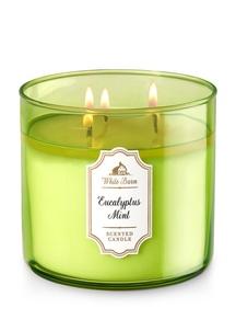 【Bath & Body Works】3-ウィック キャンドル_ユーカリ ミントの香り