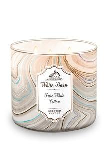 【Bath & Body Works】3-ウィック キャンドル_ピュア ホワイト コットンの香り