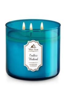 【Bath & Body Works】3-ウィック キャンドル_エンドレス ウィークエンドの香り