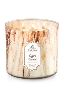 【Bath & Body Works】3-ウィック キャンドル_コッパー ココナッツの香り