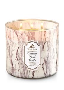 【Bath & Body Works】3-ウィック キャンドル_シナモン スパイス バニラの香り