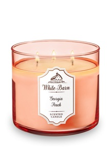 【Bath & Body Works】3-ウィック キャンドル_ジョージア ピーチの香り
