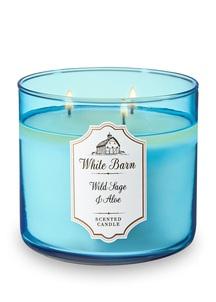 【Bath & Body Works】3-ウィック キャンドル_ワイルド セージ&アロエの香り
