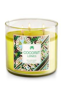 【Bath & Body Works】3-ウィック キャンドル_ココナッツ リーブスの香り