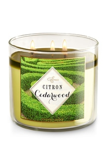 【Bath & Body Works】3-ウィック キャンドル_シトロン シダーウッドの香り