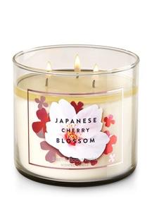 【Bath & Body Works】3-ウィック キャンドル_ジャパニーズチェリーブロッサムの香り