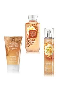 【Bath & Body Works】バスケア 3点セット_ウォームバニラシュガーの香り