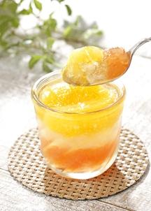 【オステリア サクラ】グレープフルーツ&オレンジゼリー