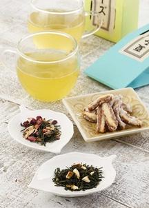 フレーバー日本茶2種とかりんとうセット