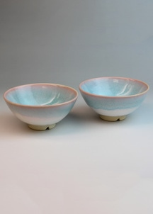 【萩焼】mint お茶碗ペア