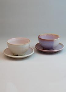 【萩焼】Shikisaiまめ碗皿ペアセット