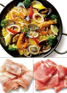 【Grande chef】 paellaパエリア&生ハム(ハモンセルド・サラダパンチェッタ)