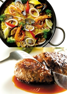 【Grande chef】 paellaパエリア&ハンバーグ(2個入り)