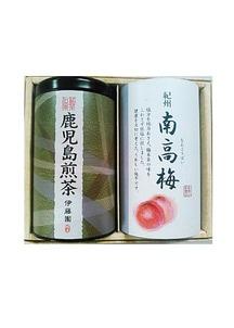 銘茶伝承「鹿児島煎茶」と紀州南紅梅セット