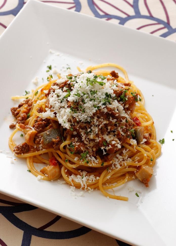 BREJEW 【BREJEW】島根のエリンギ入りボロネーゼソース生パスタ スパゲティ2食セット