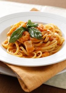 【BREJEW】シーフードのトマトクリームソース生パスタ スパゲティ2食セット