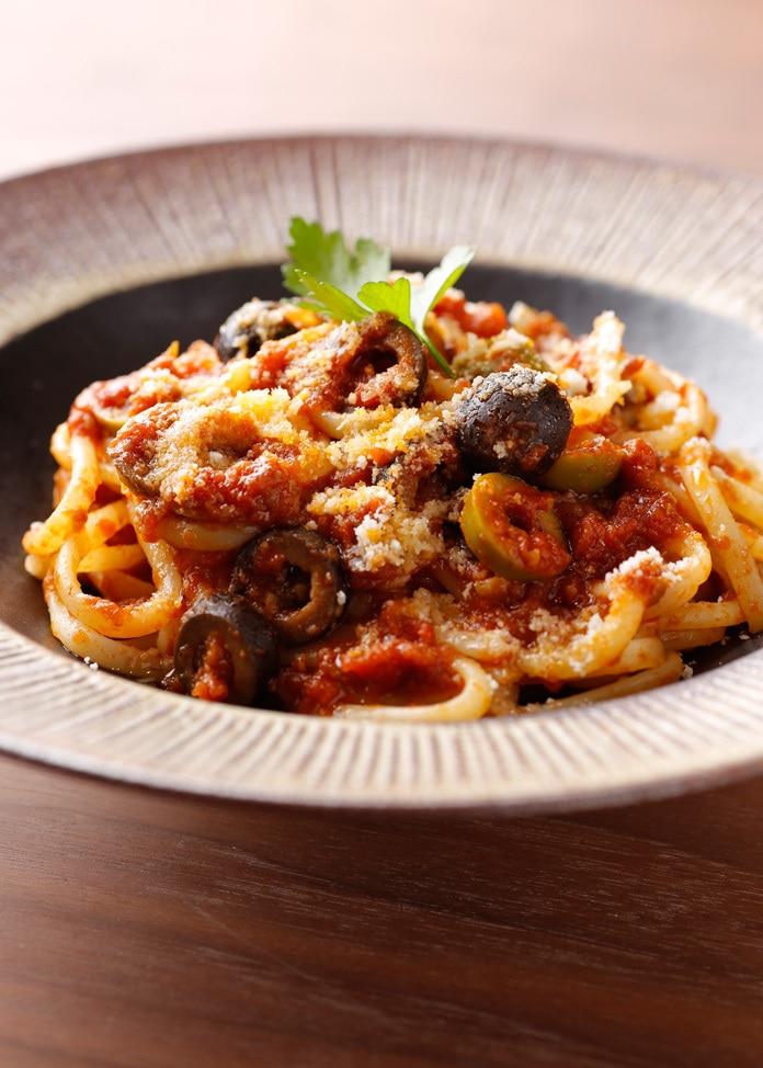 BREJEW 【BREJEW】プッタネスカソース生パスタ スパゲティ2食セット