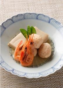 【BREJEW】甘海老真丈と高野豆腐の含め煮 3個セット