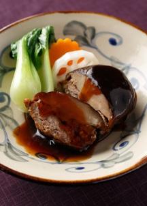 【BREJEW】しいたけの黒豚ひき肉詰め 黒酢あん 4個セット