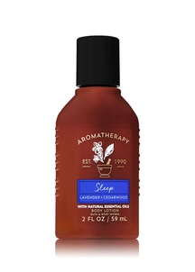 【Bath & Body Works】ラベンダー シーダーウッドの香り トラベルサイズ ボディローション/アロマセラピーシリーズ スリープ