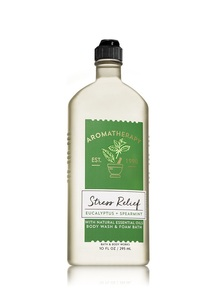【Bath & Body Works】ユーカリスペアミントの香り ボディウォッシュ/アロマセラピーシリーズ ストレスリリーフ