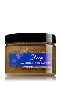 【Bath & Body Works】ラベンダー シーダーウッドの香り シュガースクラブ/アロマセラピーシリーズ スリープ