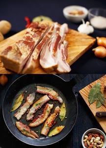 【モリーズ】北海道&イタリア産ドルチェポルコ豚パンチェッタベーコンセット