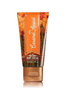 【Bath & Body Works / 秋限定】ソルテッド キャラメル アプリコットの香り トラベルサイズ ボディクリーム
