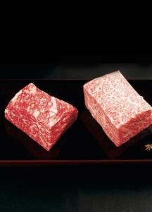 【格之進】門崎熟成肉 塊焼き(赤身&霜降り:120g×2個)
