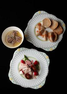 【クリスマス限定】ホロホロ鳥オードブル&ローストビーフ(シャンパンハーフボトル付き)