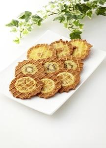 フルーツワッフル 神戸フルワ 3箱入 (キウィ、パイナップル、レモン)