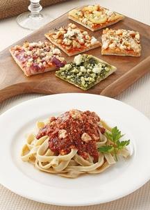手づくり半生パスタ&天然酵母ピザセット(パスタ2食、ピザ5食入)