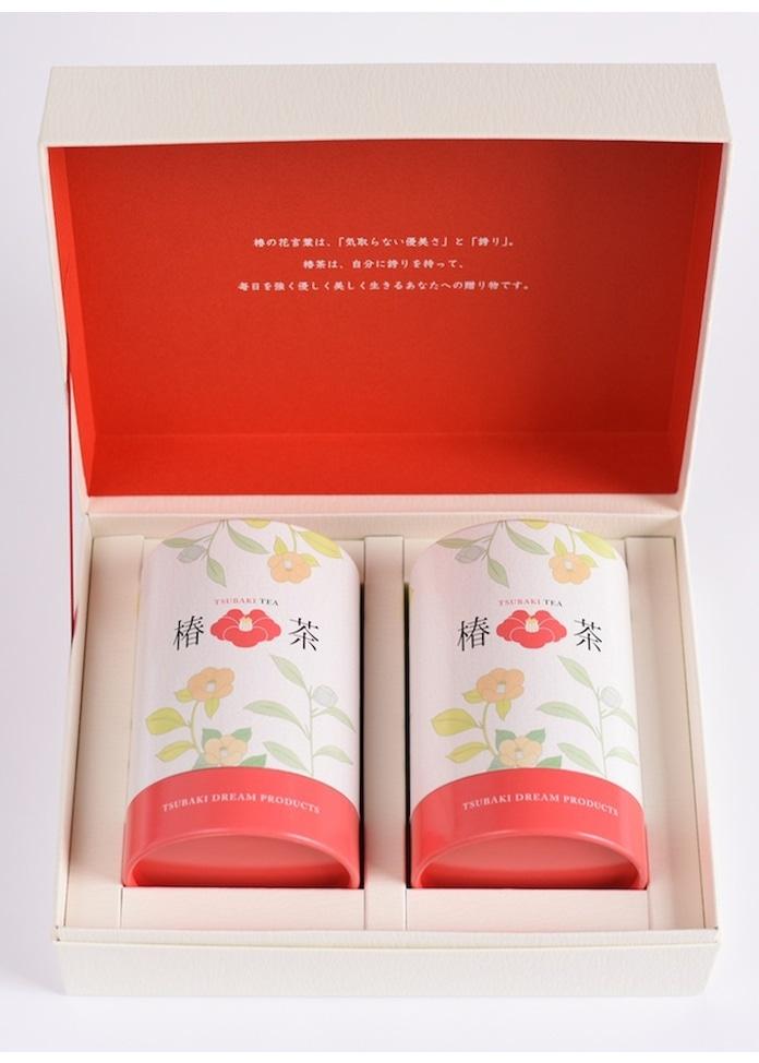 三陸椿物語 椿茶 茶筒 ギフト