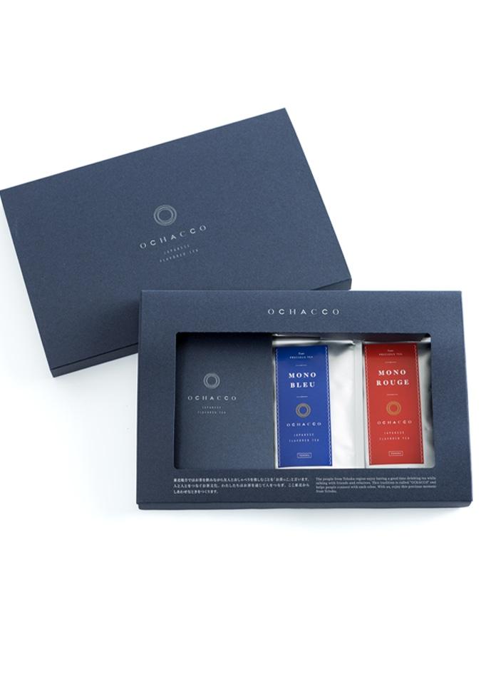 日本茶フレーバーティー OCHACCO MONO BLUE(モノブルー)・MONO ROUGE(モノルージュ)の2個セット