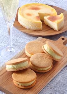 【オンワード・マルシェ限定】プレミアムチーズケーキ・とうもろこしのムースサンド SET