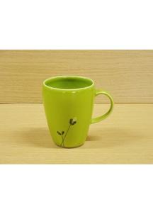 【有田焼】ロングフラワー(緑)・マグカップ