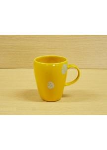 【有田焼】プラチナドット(黄)・マグカップ