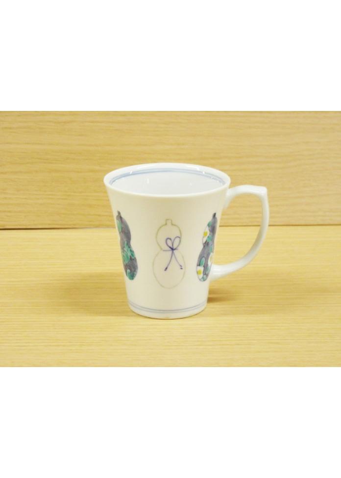 篠英陶磁器 【伊万里焼】ひょうたん(青)・マグカップ