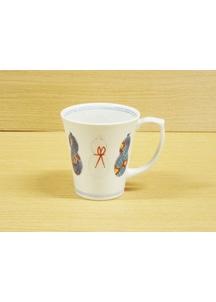 【伊万里焼】ひょうたん(赤)・マグカップ