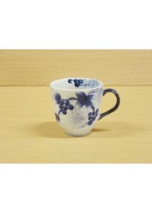 【有田焼】染付和ぶどう(青)・マグカップ
