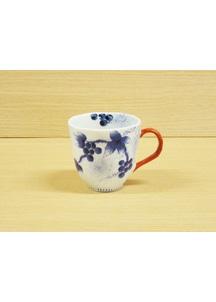 【有田焼】染錦和ぶどう(赤)・マグカップ