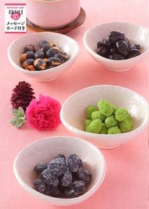 【母の日限定】豆菓子とブリザーブドフラワーのセット