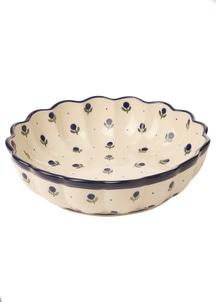 【セラミカ】フィオーレ 波型平鉢(24cm)