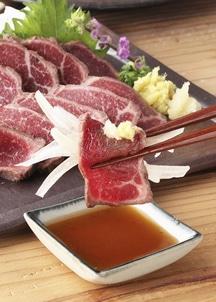 【菅乃屋】鮮馬刺し赤身・たたきセット