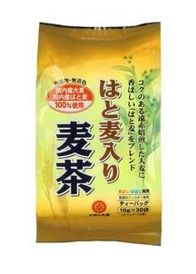 【お茶の丸幸】はと麦入り麦茶ティーバッグ 30p入×10袋