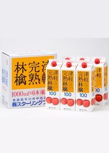 津軽完熟林檎ジュース紙パック1000ml×6本