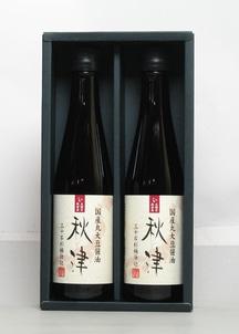 【島一】国産丸大豆醤油秋津 300ml2本セット